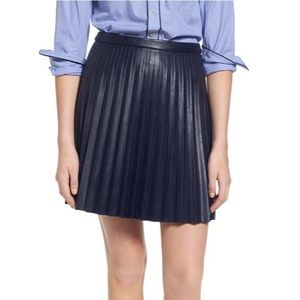 J Crew pleated leather skirt size 2